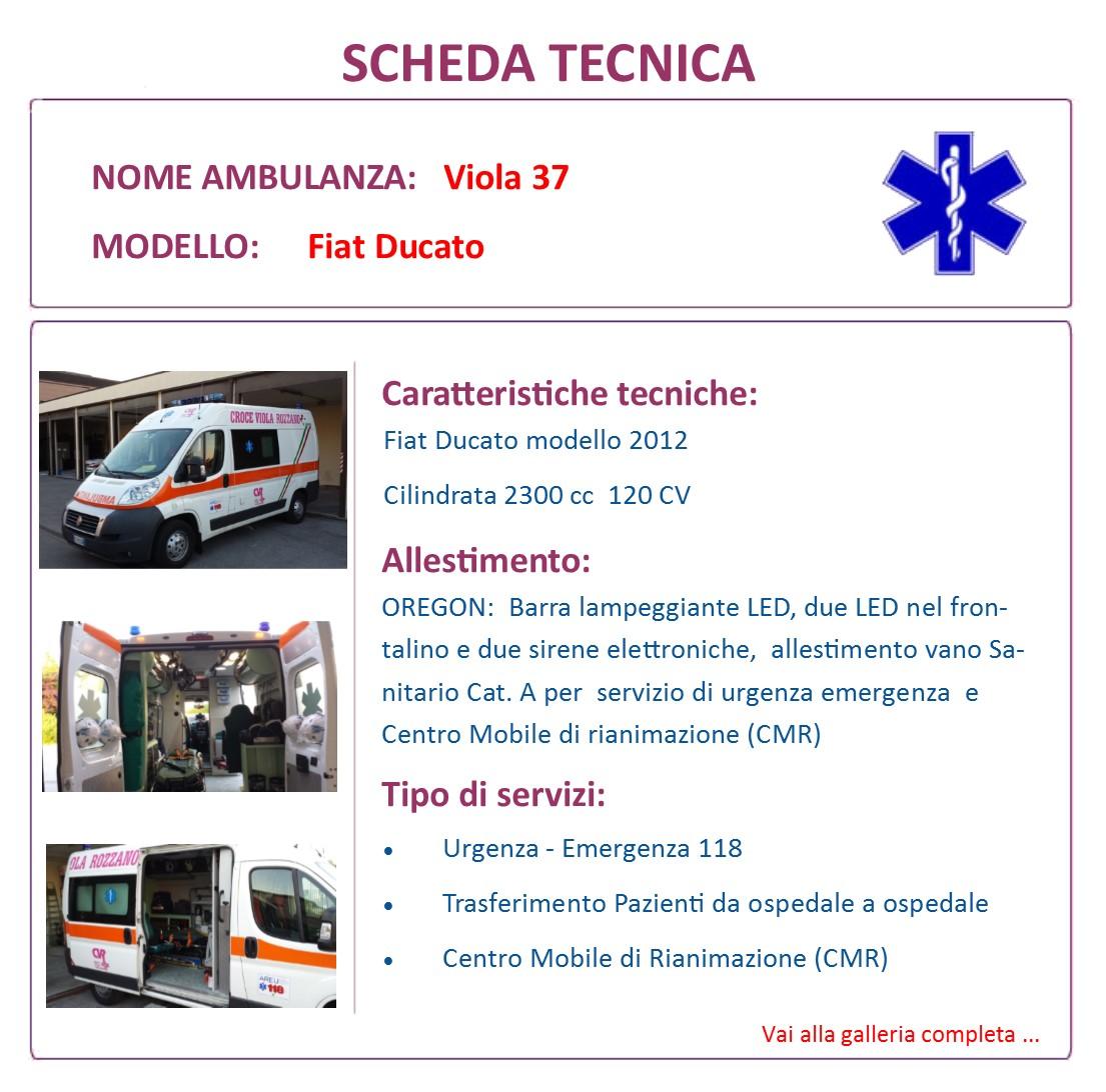 Scheda Tecnica V37